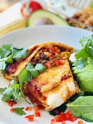 Pulled Pork, Black Bean and Corn Enchiladas (4pkt)