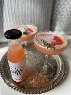 Blushing Kiss (serves 2) Gin, Ruby Grapefruit, Elderflower, Lemon