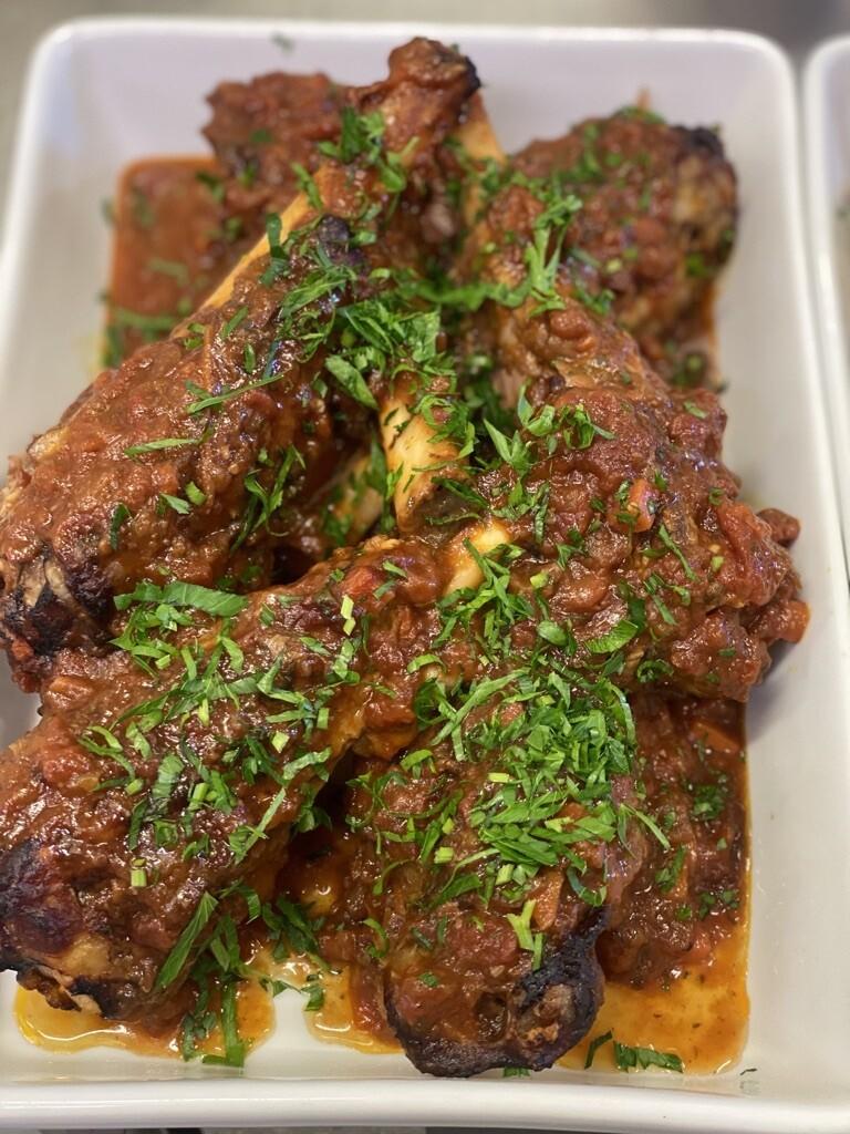 Slow Braised Italian Lamb Shanks in Red Wine & Tomato (Serves 3)