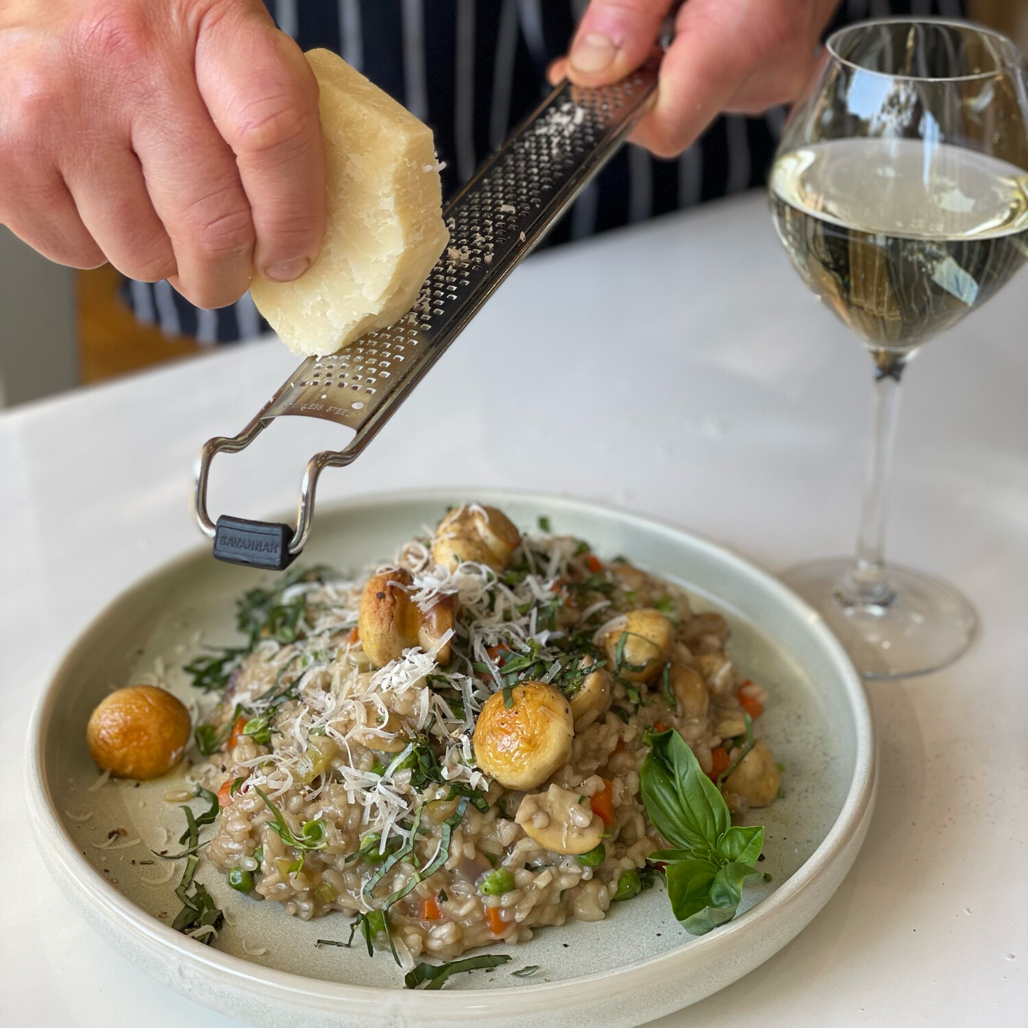 Risotto with Porcini Mushroom and Pea (Serves 2-3)