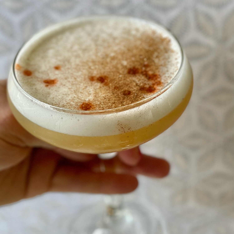 Maple, Cinnamon Whiskey Sour (Serves 2)