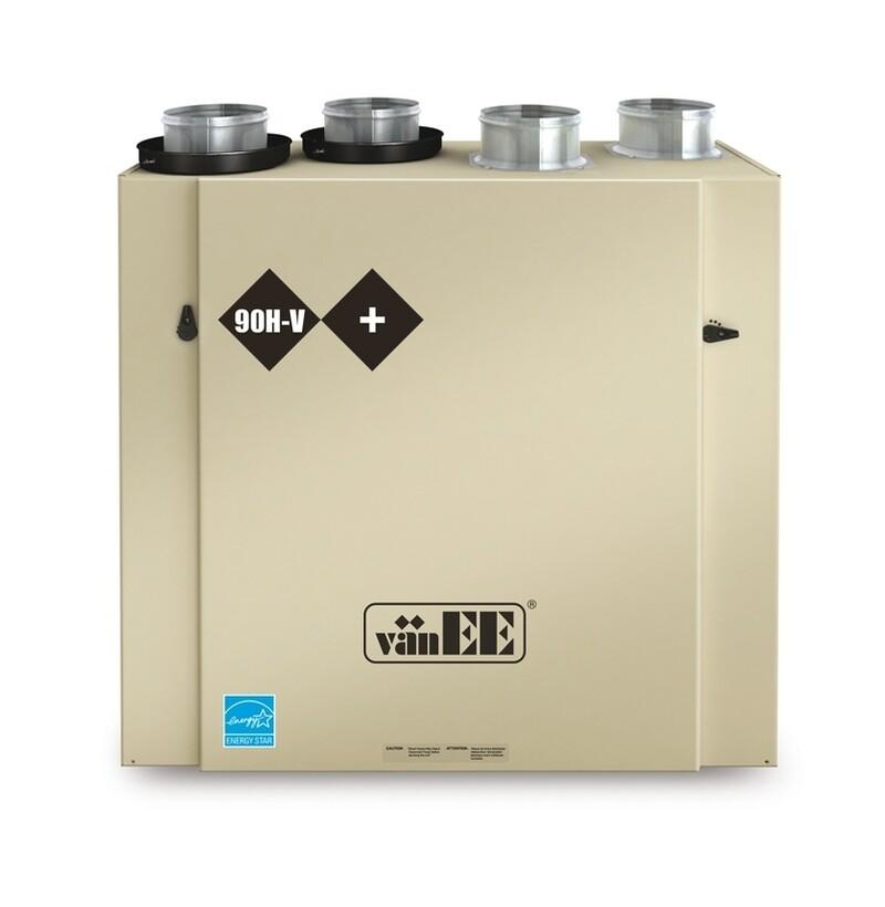 Vanee 90HV+ à récupération de chaleur (155 cfm)
