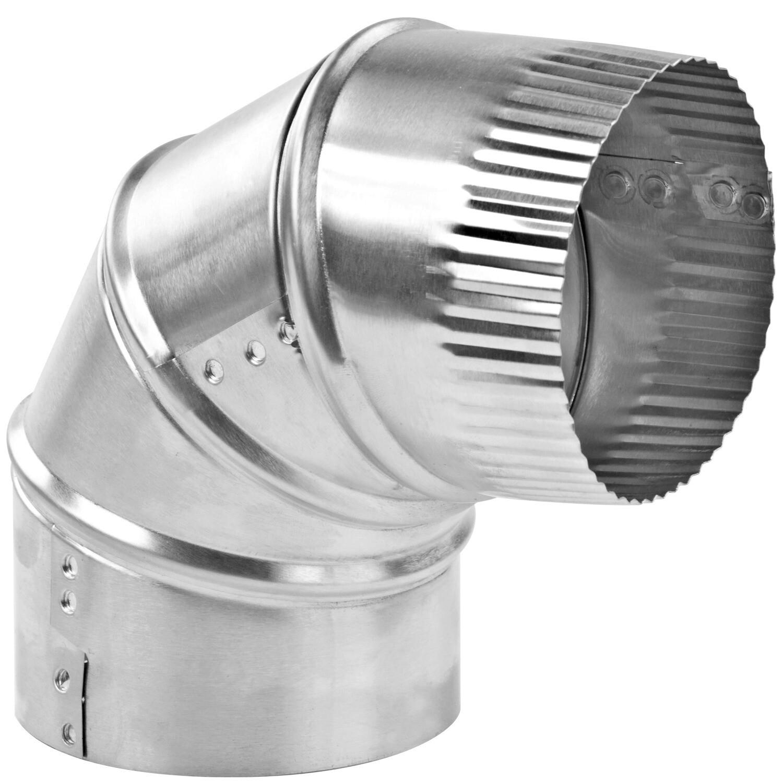 Coude galvanisé 6'' de diamètre ajustable à 90 degrés