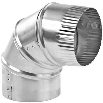 Coude galvanisé 4'' de diamètre ajustable à 90 degrés