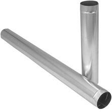 "Tuyauterie rigide 6"" de diametre x 60"" de long en acier galvanisé"
