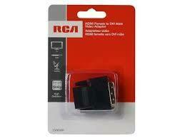RCA HDMI (Female) to DVI (Male) Video Adapter - Black