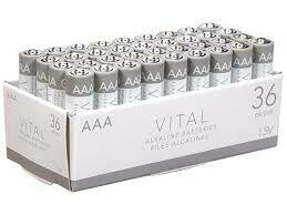Vital AAA Alkaline Batteries  (36-Pack)