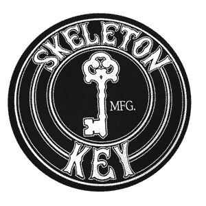 Skeleton Key Skateboard Pin