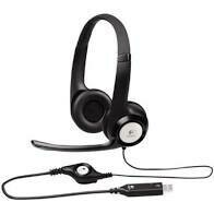 Logitech H390 On-Ear PC USB Headset - Black