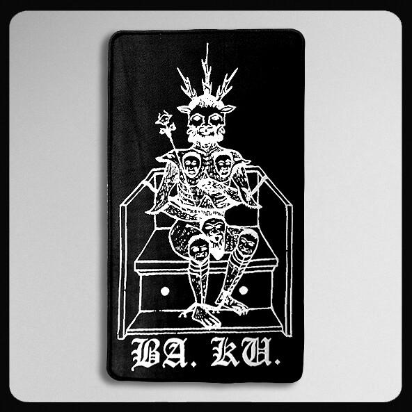 "SKULL SKATES BA. KU. THRONE PATCH (4.5""X8"")"