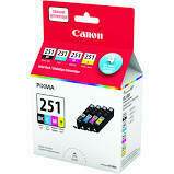 Canon CLI-251 CMYK Ink Cartridge Value Pack