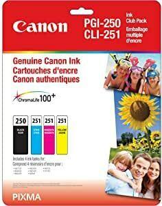 Canon PGI-250 BK/CLI-251 CMY Ink Cartridge - Club Pack
