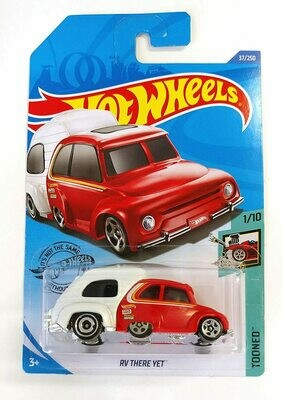 Hot Wheels 2019 RV There Yet Tooned Red & White 37/250, Long Card by Mattel