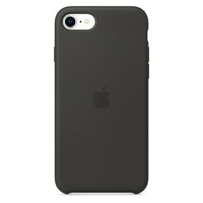 Apple - Silicone Case Black for iPhone SE (2020)