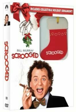 Scrooged (DVD) + Holiday Ornament (New)