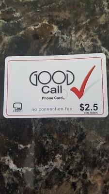 Good Call Calling Card ($2.50)