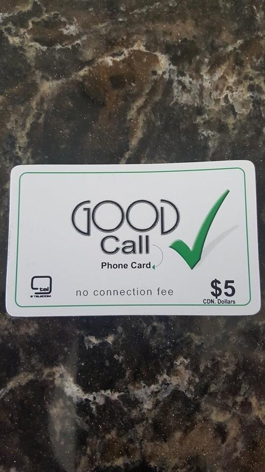 Good Call Calling Card ($5.00)