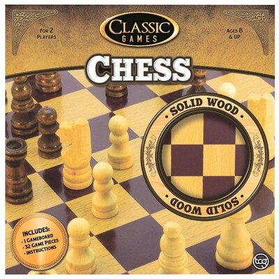 Classic Games Solid Wood Chess Set