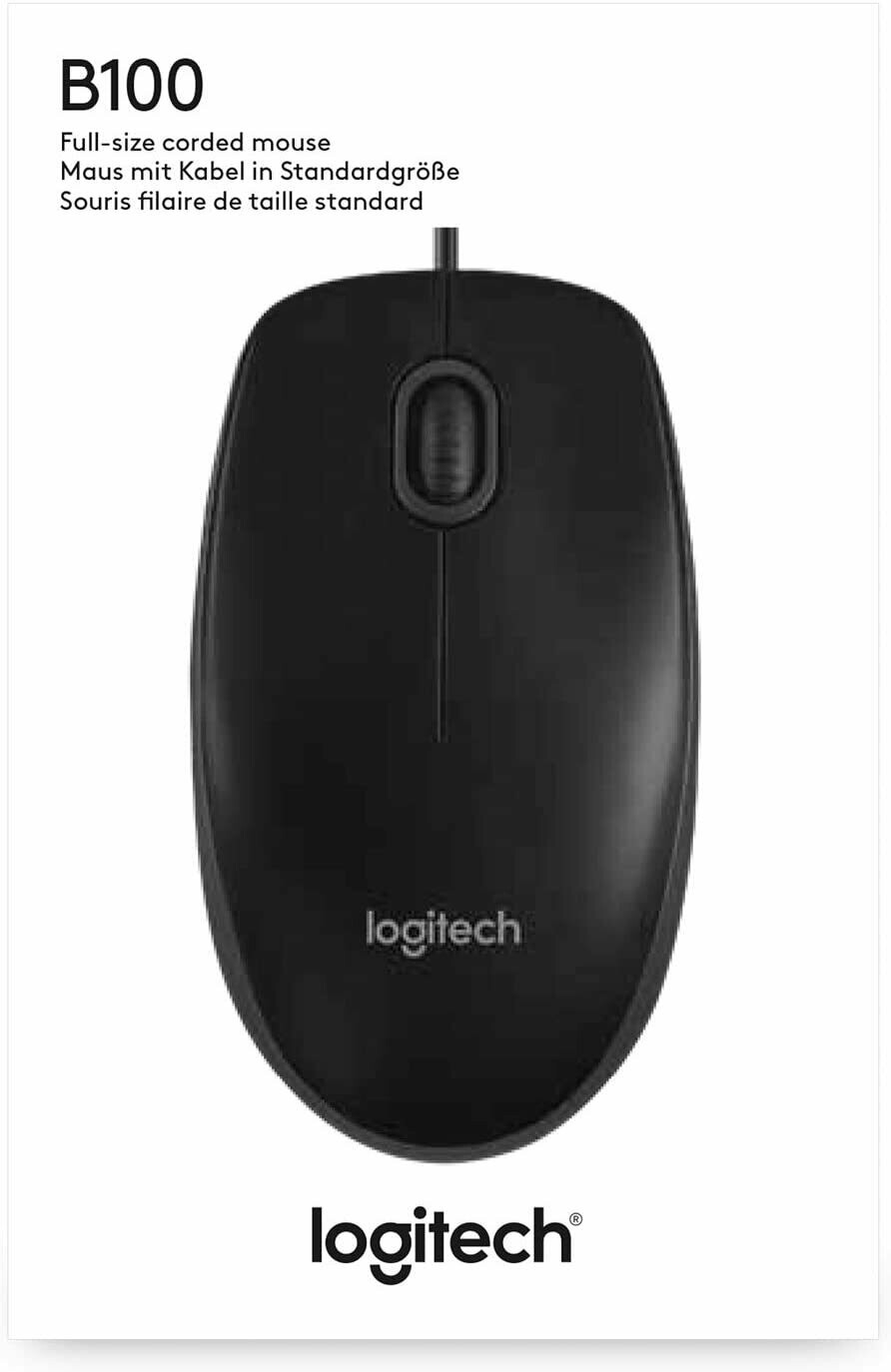 Logitech Corded Mouse B100