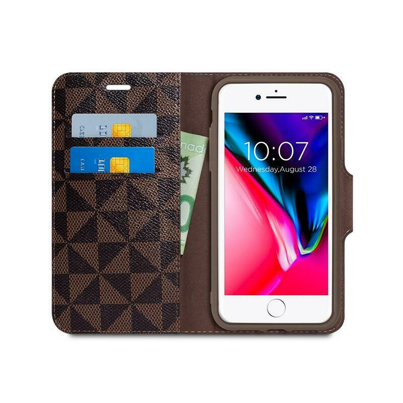 Detachable Wallet and Phone Case with RFID Protection and Shock Absorption - iPhone X & XS - Brown