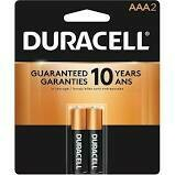 Duracell 1.5V Coppertop Alkaline AAA Battery  (2-Pack)