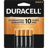 Duracell 1.5V Coppertop Alkaline AAA Battery ( 4-Pack)