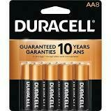 Duracell 1.5V Coppertop Alkaline AA Battery (8 Pack)