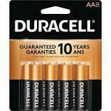 Duracell 1.5V Coppertop Alkaline AA Battery (8 Pack)