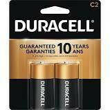 Duracell 1.5V C Coppertop Alkaline Battery  (2 Pack)