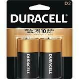 Duracell 1.5V D Coppertop Alkaline Battery  (2-Pack)