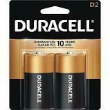 Duracell 1.5V D Coppertop Alkaline Battery  (2-Pack)