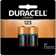 Duracell Ultra Lithium 123 Batteries  (2 Pack)