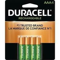 Duracell Rechargeable Ni-MH AAA Batteries (4 Pack)