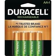 Duracell Rechargeable Ni-MH AA Batteries  (4 Pack)
