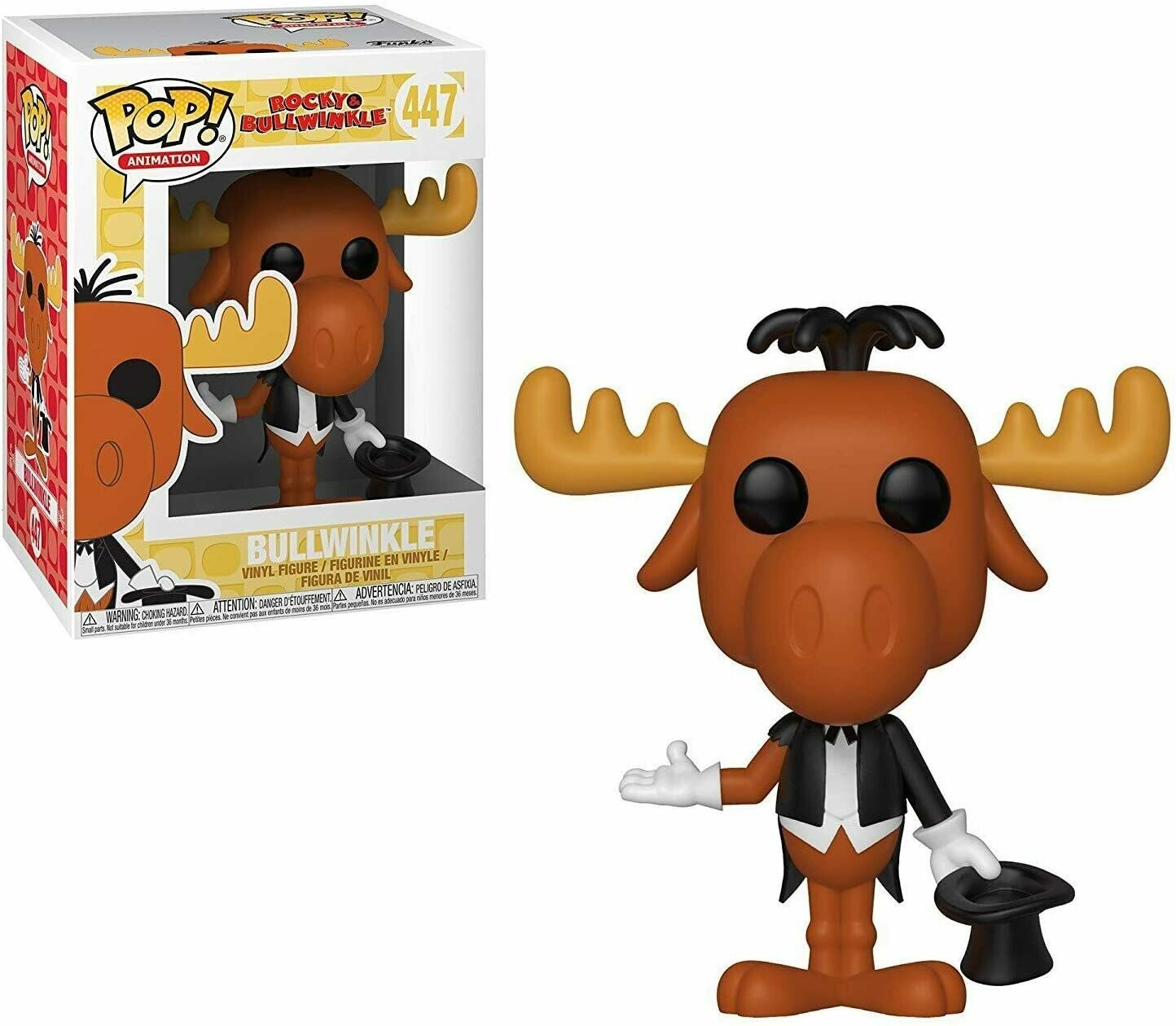 Funko Pop Animation: Rocky & Bullwinkle - Magician Bullwinkle Collectible Figure