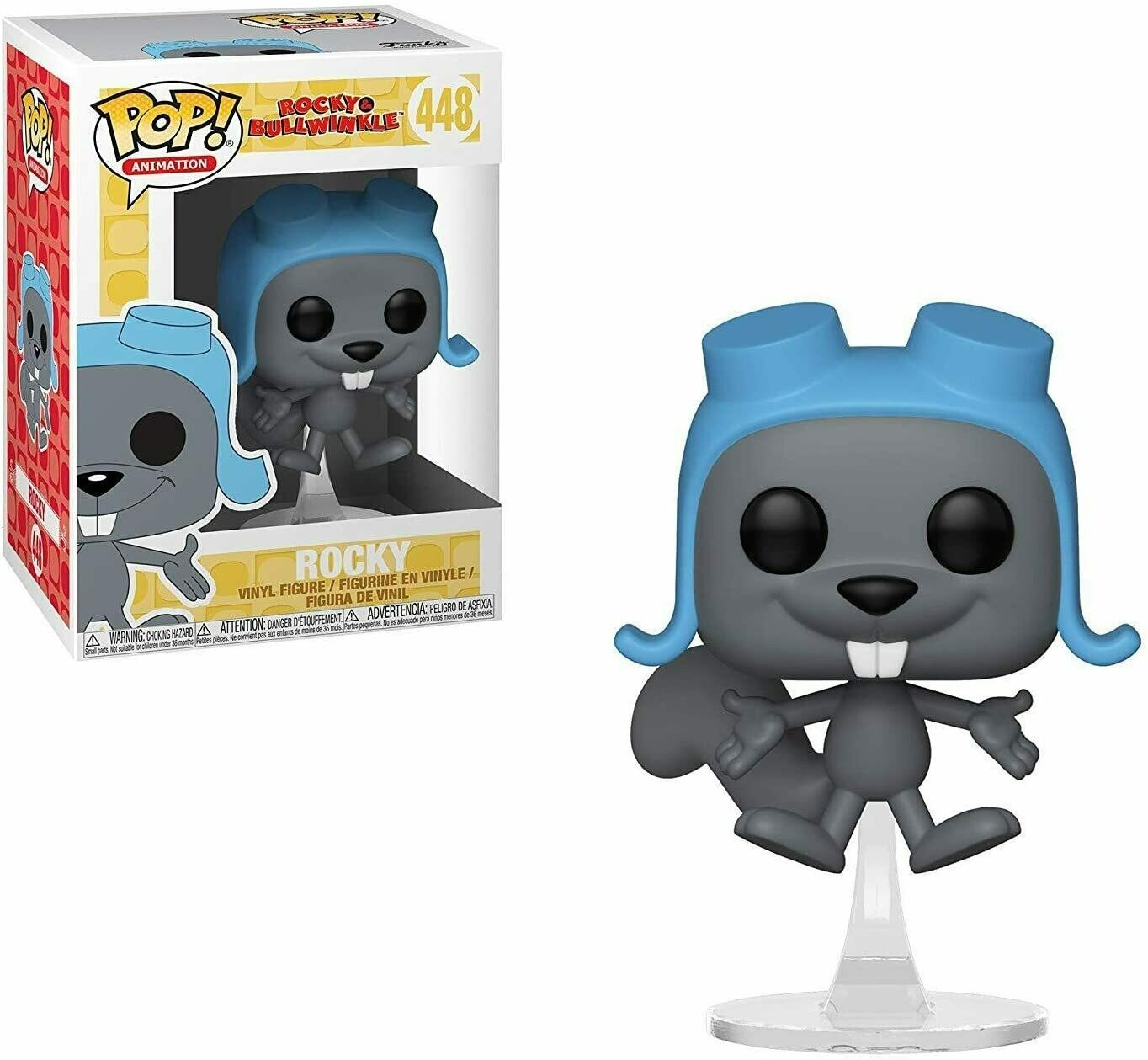 Funko Pop Animation: Rocky & Bullwinkle - Flying Rocky Collectible Figure,