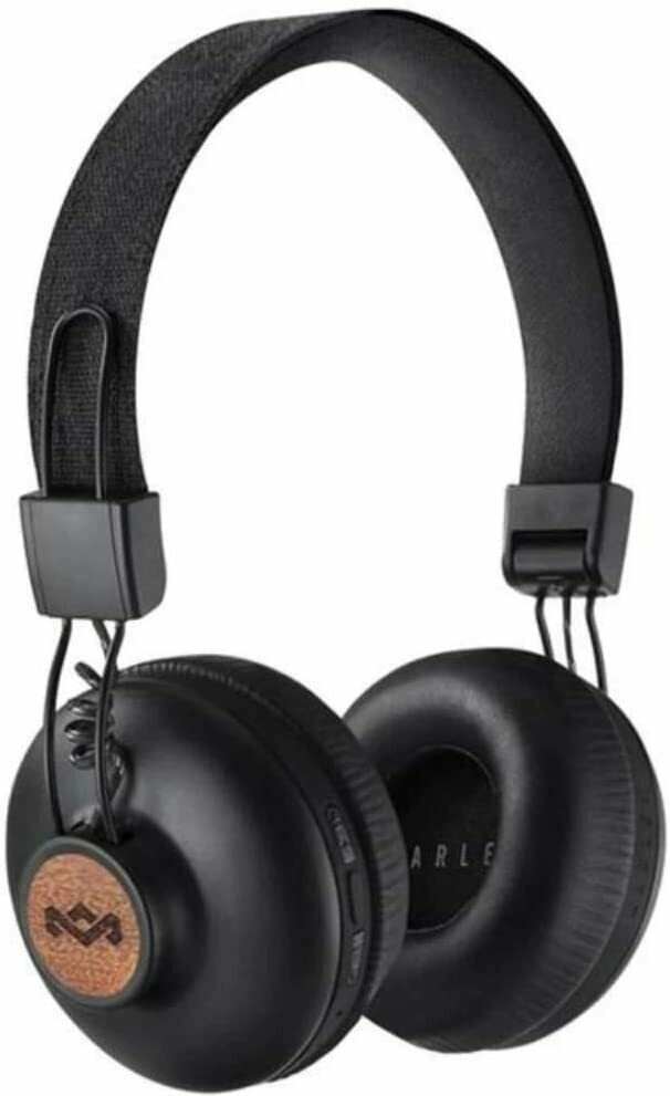 House of Marley Positive Vibration 2 Wireless Bluetooth On Ear Headphones, Black