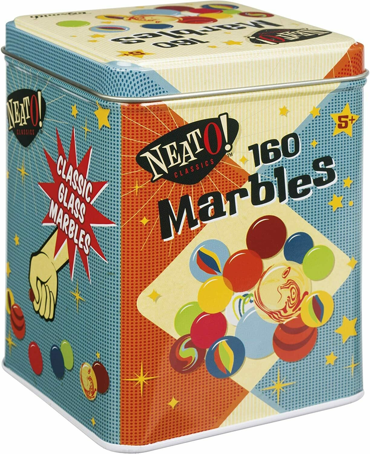 160 Marbles in a Tin Box by Neato