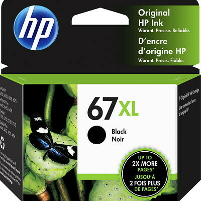 HP 67XL Black High Yield Ink Cartridge