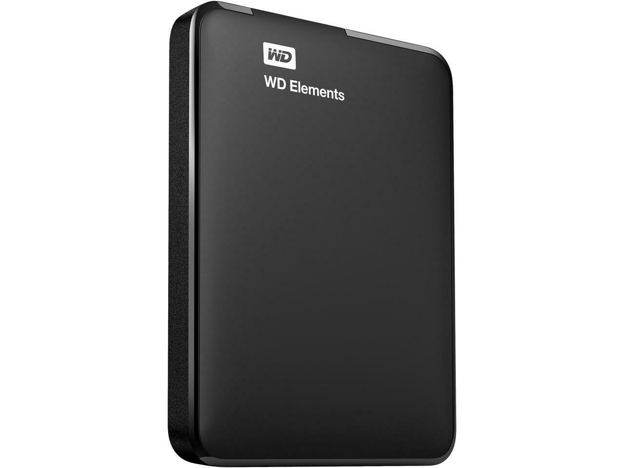 WD Elements 1TB Portable External Hard Drive - Black