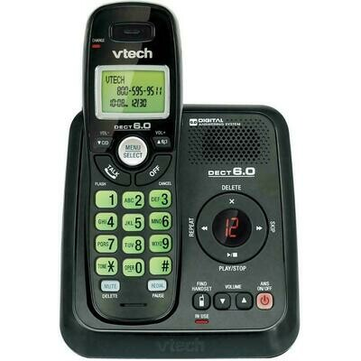 VTech CS6124-11 DECT 6.0 Cordless Phone and Answering System - Black