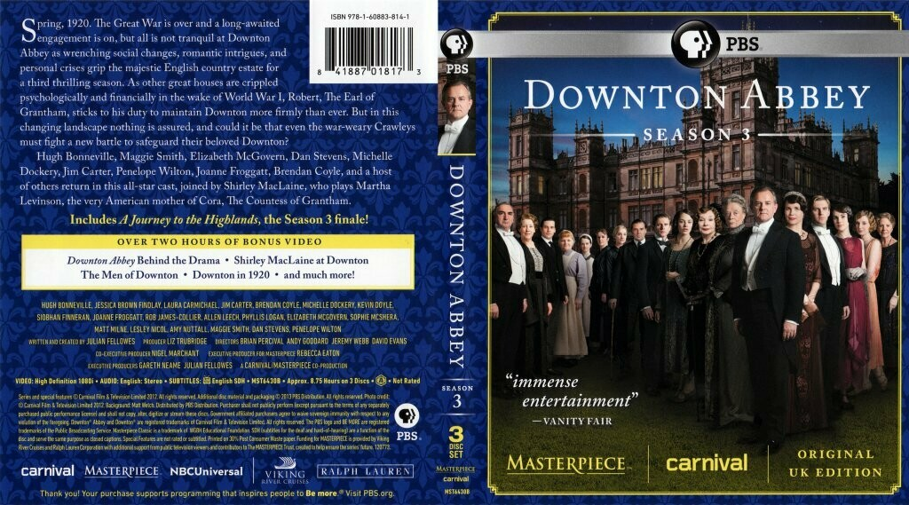 Downton Abbey Season Three (7 day rental)