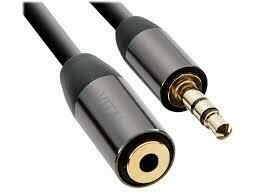 Vital 1.8m (6') Male-to-Female Headphone Extension Cable - Black
