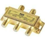 RCA 4-Way Gold-Plated Signal Cable Splitter