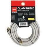 RCA 3.6m (12ft) Quad Shield RG6 Coax Cable - White