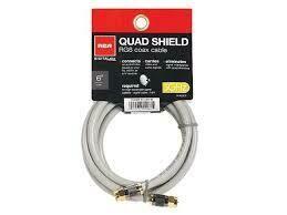 RCA 1.8m (6.0ft) Quad Shield RG6 Coaxial Cable - Grey