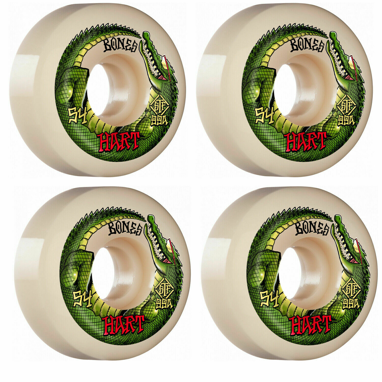 Bones Skateboard Wheels (54mm) Hart Speed Gator V5 Sidecut STF 99A