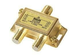 RCA 2-Way Gold-Plated Signal Cable Splitter