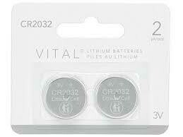 VITAL CR2032 Lithium 3V Button Cell Battery (2 Pack)