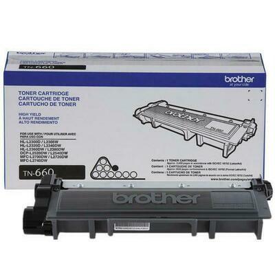 Brother TN660 High-Yield Black Toner Cartridge